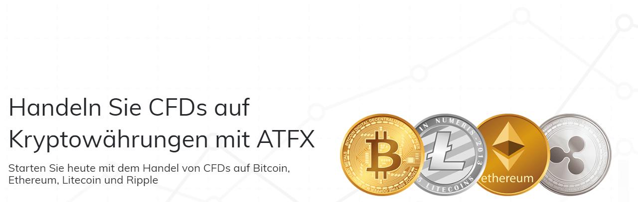 ATFX bietet den Handel von CFDs auf Kryptowährungen an