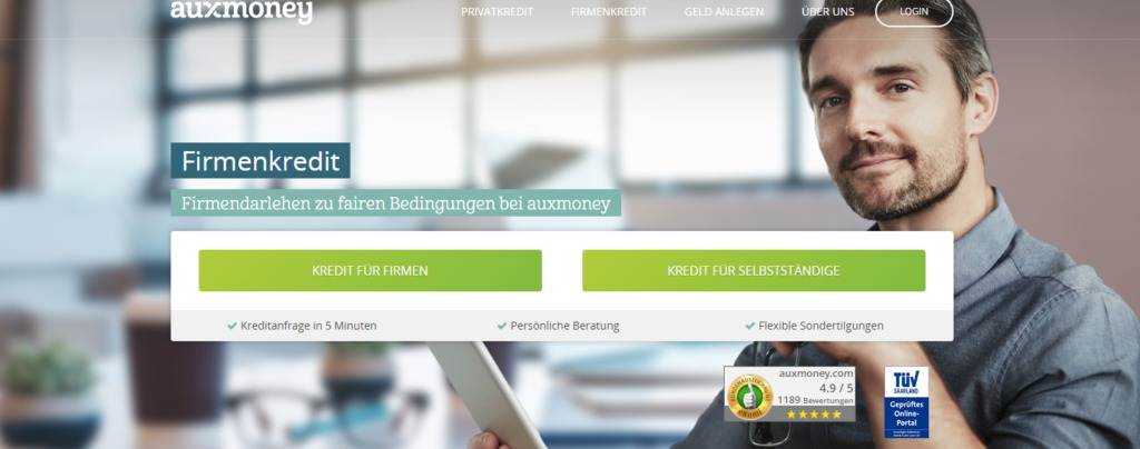 auxmoney Firmenkredit