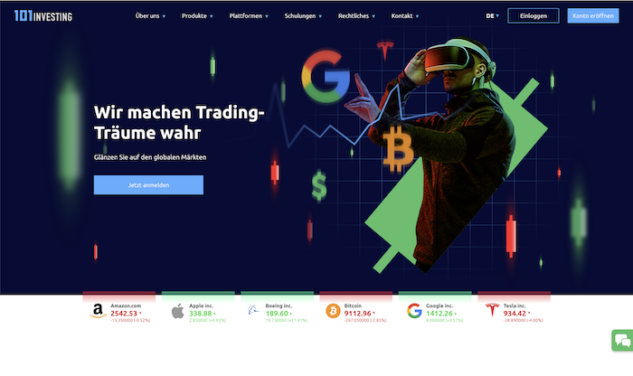 101Investing Webseite