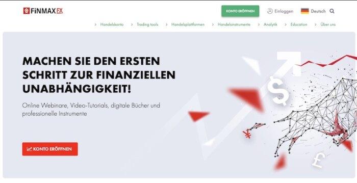FinmaxFX Webseite